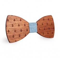 Дървена папионка с котвички