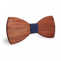 Дървена папионка polka dot