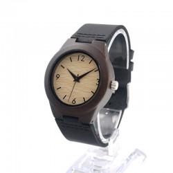 Дамски дървен часовник абанос
