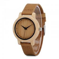 Дамски дървен часовник бамбук
