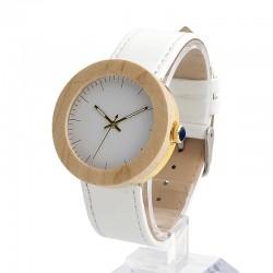 Дамски дървен часовник бял клен
