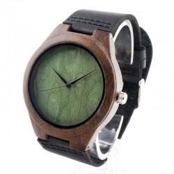 Мъжки дървен часовник абанос без разделения