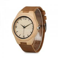 Мъжки дървен часовник бамбук Модел 1