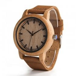 Мъжки дървен часовник бамбук Модел 2