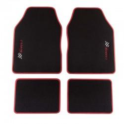 Универсални мокетни стелки за автомобил червени