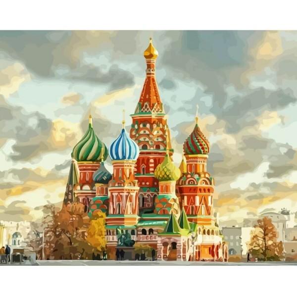 Картина за рисуване по номера - Червения площад