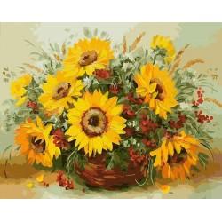 Картина за рисуване по номера - Слънчогледи