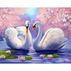 Картина за рисуване по номера - Лебеди