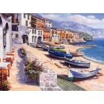 Картина за рисуване по номера - Лодки на брега