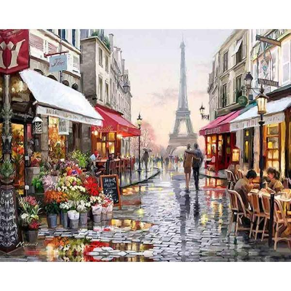 Картина за рисуване по номера - Париж