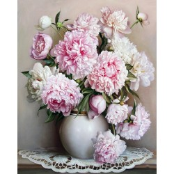 Картина за рисуване по номера - Ваза с цветя